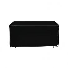 4' Open Corner Table Covers - Black