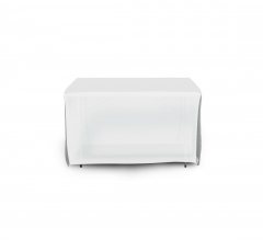 4' Open Corner Table Covers - White