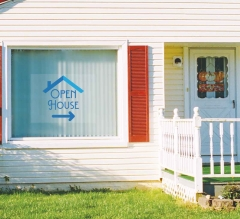 Open House Clear Window Decals