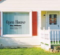 Open House Vinyl Letters