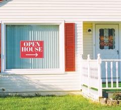 Open House Window Decals Opaque