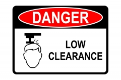 OSHA DANGER Low Clearance Sign
