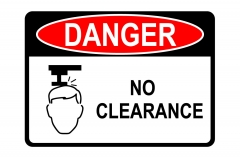OSHA DANGER No Clearance Sign