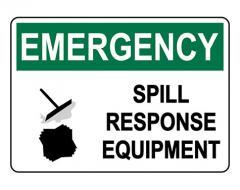 OSHA EMERGENCY Spill Response Equipment Sign