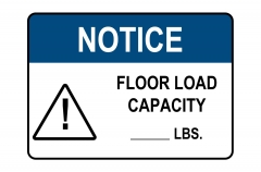 OSHA NOTICE Floor Load Capacity Sign