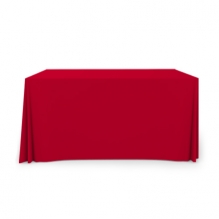 4' Pleated Table Covers - Red