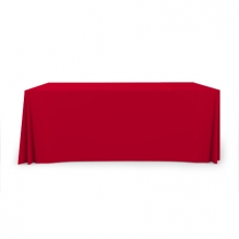 6' Pleated Table Covers - Red