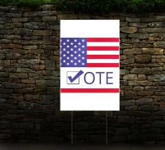 Political HIP Reflective Lawn Signs