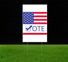 Political Reflective Lawn Signs