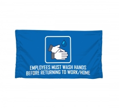Polyester Fabric Safety Banners