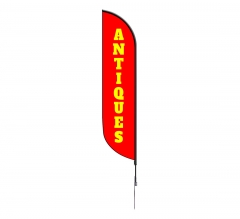 Pre-Printed Antiques Feather Flag