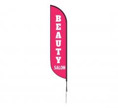 Pre-Printed Beauty Salon Feather Flag