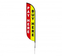 Pre-Printed Buy Here Pay Here Feather Flag