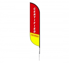 Pre-Printed Certified Pre-Owned Feather Flag