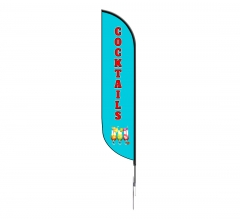 Pre-Printed Cocktails Feather Flag
