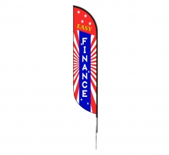 Pre-Printed Easy Finance Feather Flag