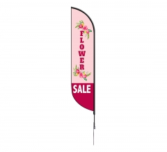 Pre-Printed Flower Sale Feather Flag
