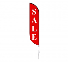 Pre-Printed Sale Feather Flag - Red