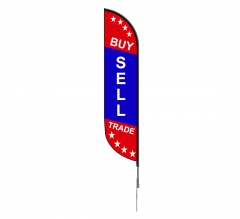 Pre-Printed Sell Buy Trade Feather Flag