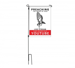 Preaching the Word of God Live stream Garden Flags