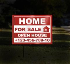 Reflective Real Estate Yard Signs
