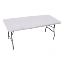 6' Rectangle Table Toppers - White