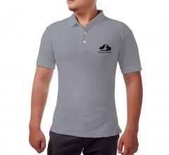 Custom Grey Polo Shirt - Embroidered
