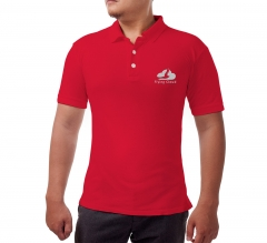 Custom Red Polo Shirt - Embroidered