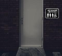 Reflective All Gender Restroom Signs