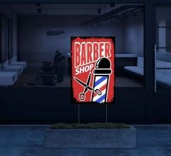 Reflective Barber Shop Yard Signs