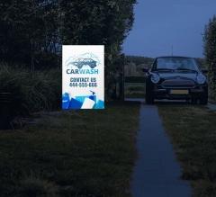 Reflective Car Wash Yard Signs