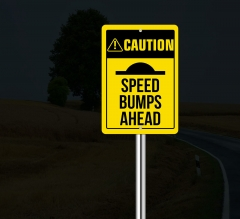 Reflective Caution Street Signs