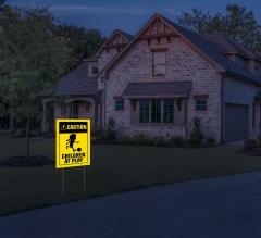 Reflective Caution Yard Signs