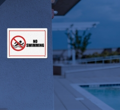Reflective Danger Pool Signs
