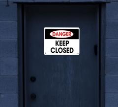 Reflective Danger Restroom Signs