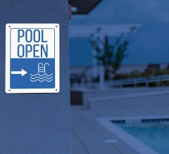 Directional Pool Signs