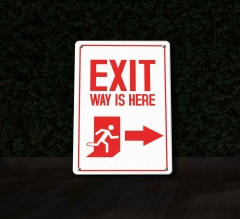 Reflective Exit Patio Signs