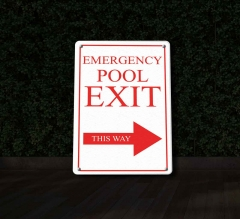 Reflective Exit Pool Signs