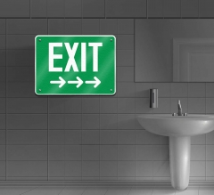 Reflective Exit Restroom Signs