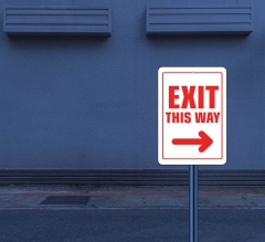 Reflective Exit Street Signs