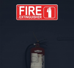Reflective Fire Extinguisher Compliance Signs