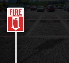 Reflective Fire Extinguisher Street Signs