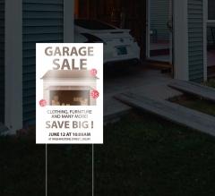 Reflective Garage Sale Signs
