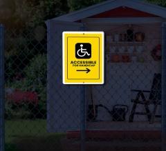 Reflective Handicap Patio Signs
