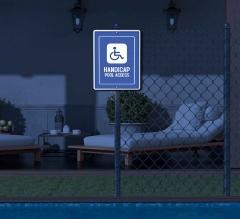 Reflective Handicap Pool Signs