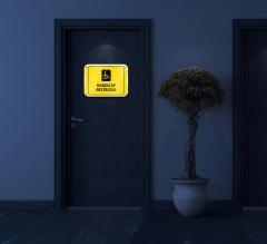 Reflective Handicap Restroom Signs