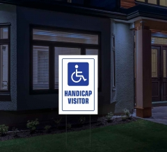 Reflective Handicap Yard Signs