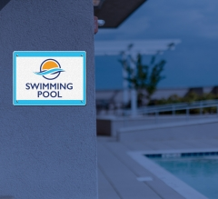 Reflective Lawn Pool Signs
