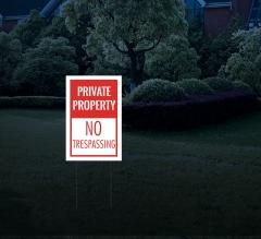 Reflective Lawn Yard Signs