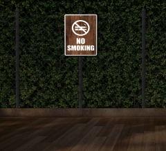 Reflective No Smoking Patio Signs